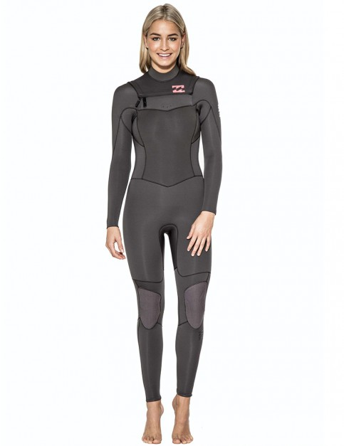 Billabong Ladies Synergy Chest Zip 5/4mm Wetsuit 2016 - Off Black